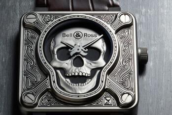 Replica Bell & Ross Instruments BR0192-Skull-Burn