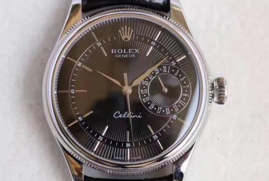 Replica Rolex Cellini Date 50519-0007 Fekete Tárcsás óra Fekete Tárcsás óra